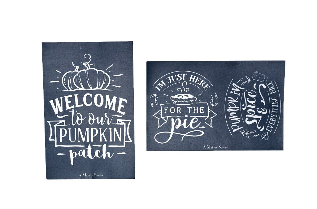 MESH STENCIL - 2 PACK - PUMPKIN PATCH - 5.5 X 8.5