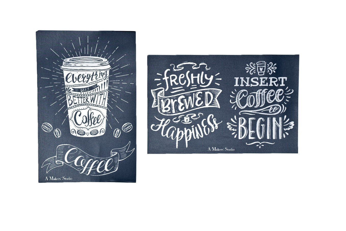 MESH STENCIL - 2 PACK - FRESHLY BREWED - 5.5 X 8.5