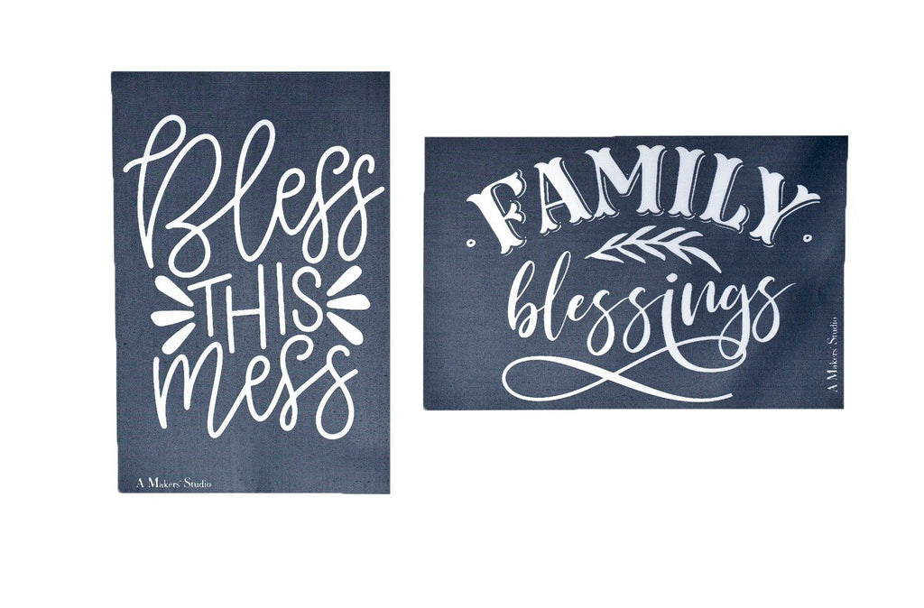 MESH STENCIL - 2 PACK - FAMILY BLESSINGS - 5.5 X 8.5