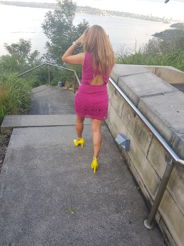 High Heel Pumps in Sunshine Yellow - Luminous Assembly
