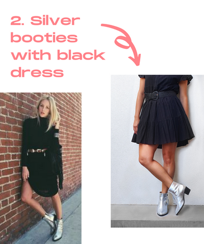 How to style silver boots