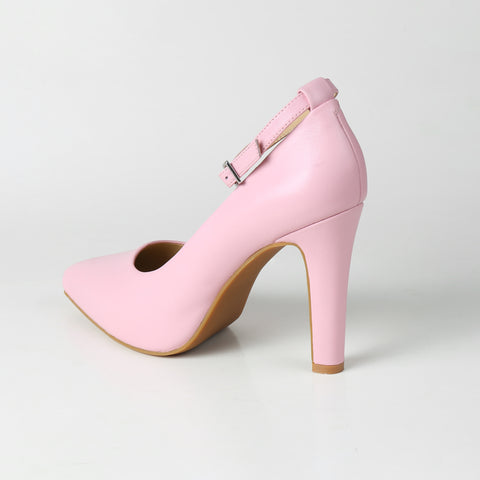 High heel pump in pink