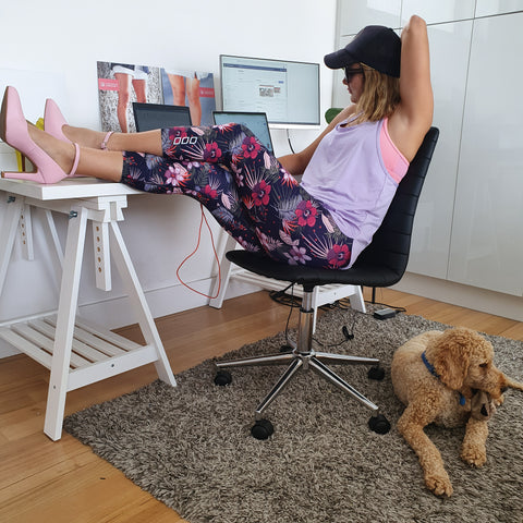 Luminous Assembly At Home Office and Heels Outfit