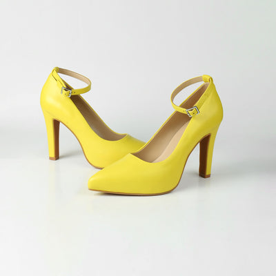 Yellow High Heel Pumps Luminous Assembly Sale