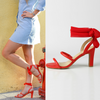 Red Mid Heel Sandals Luminous Assembly