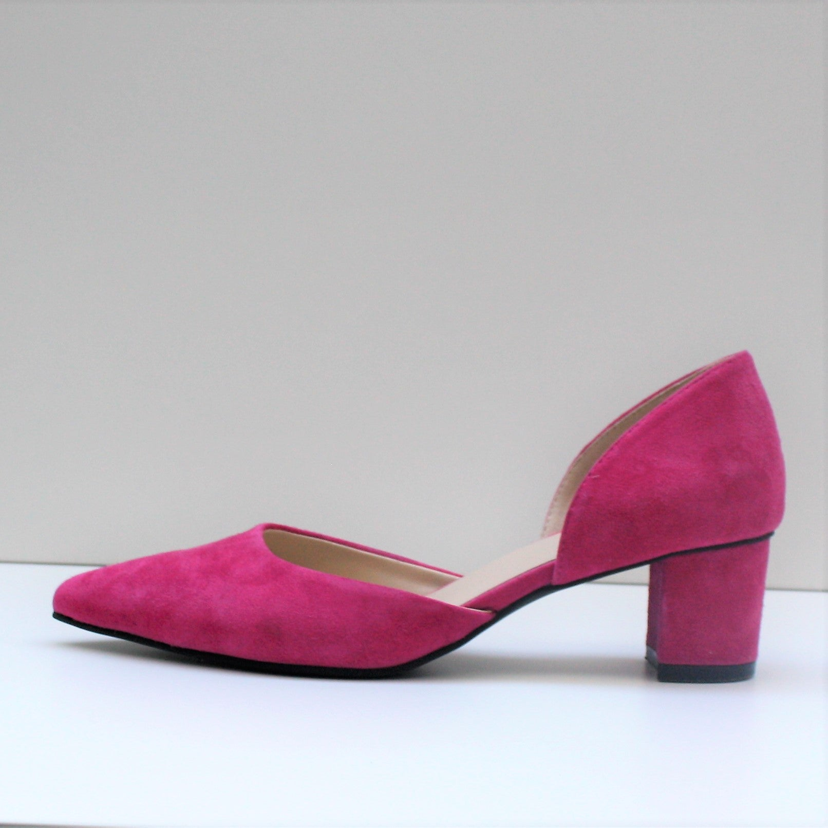 ROSA Pink Low Block Heel