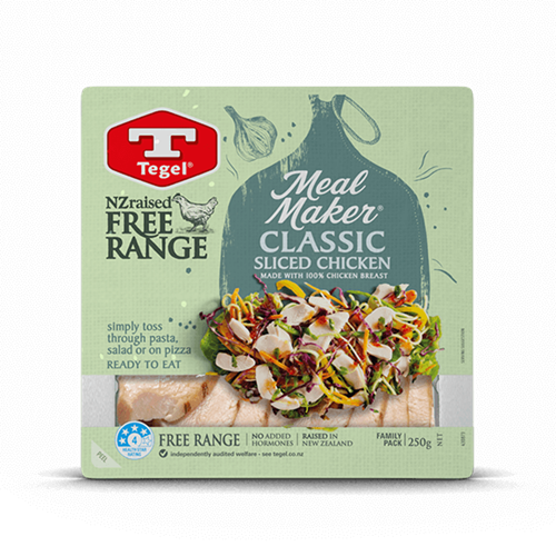 Tegel Free Range Meal Maker Classic Sliced Chicken 250g