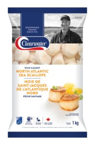 Clearwater North Atlantic Frozen Sea Scallops 20/30 1kg