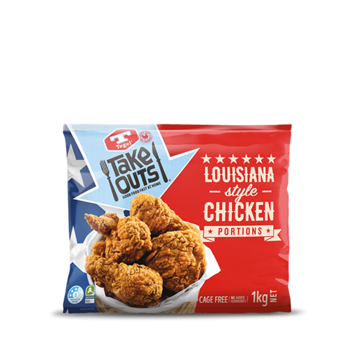 Tegel Frozen Louisiana style Chicken Portion 1kg