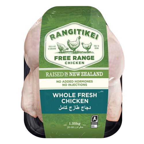 Rangitikei Free Range Fresh Whole Chicken 1.35kg