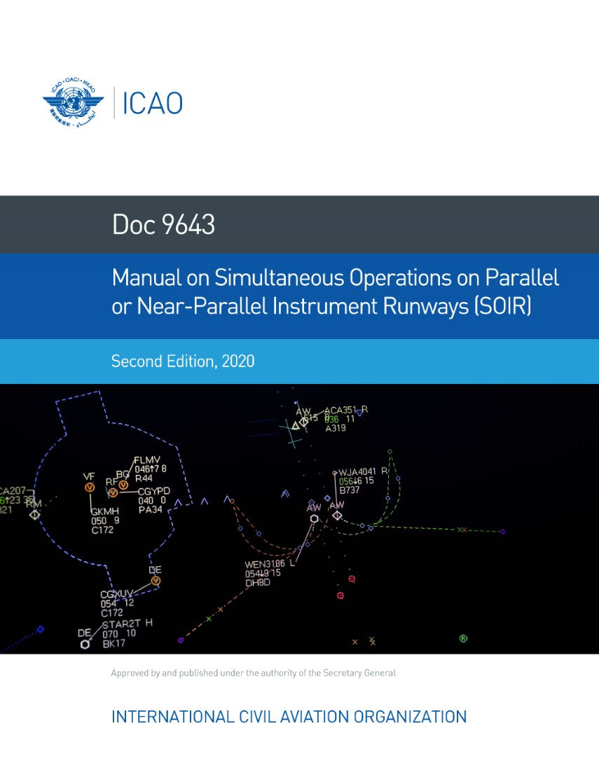 Manual on Simultaneous Operations or Parallel or Near-Parallel Instrument Runways (SOIR) (Doc 9643)