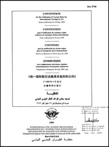 Convention for the Unification of Certain Rules for International Carriage By Air - (Doc 9740)  - MULTILINGUAL