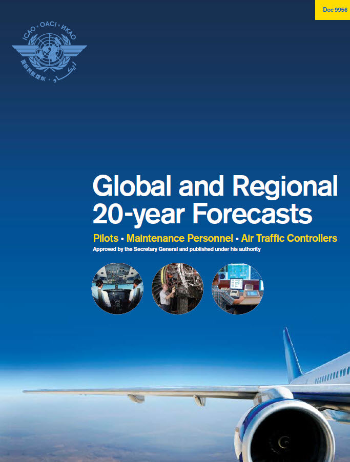 Global And Regional 20 Year Forecasts: Pilots, Maintenance Personnel,  Air Traffic (Doc 9956)