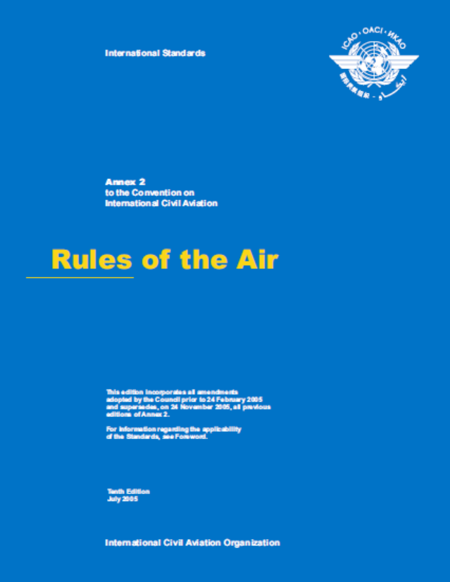 Annex  2 - Rules Of The Air