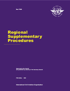 Regional Supplementary Procedures  (Doc 7030)