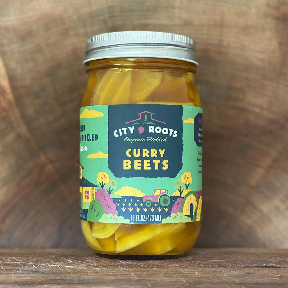 City Roots Organic Pickled Curry Beets