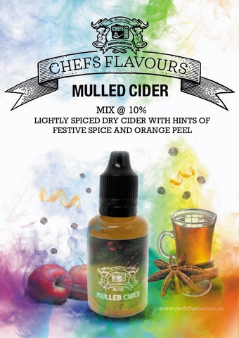 Mulled Cider 30ml Concentrate - Chefs Flavours OneShots