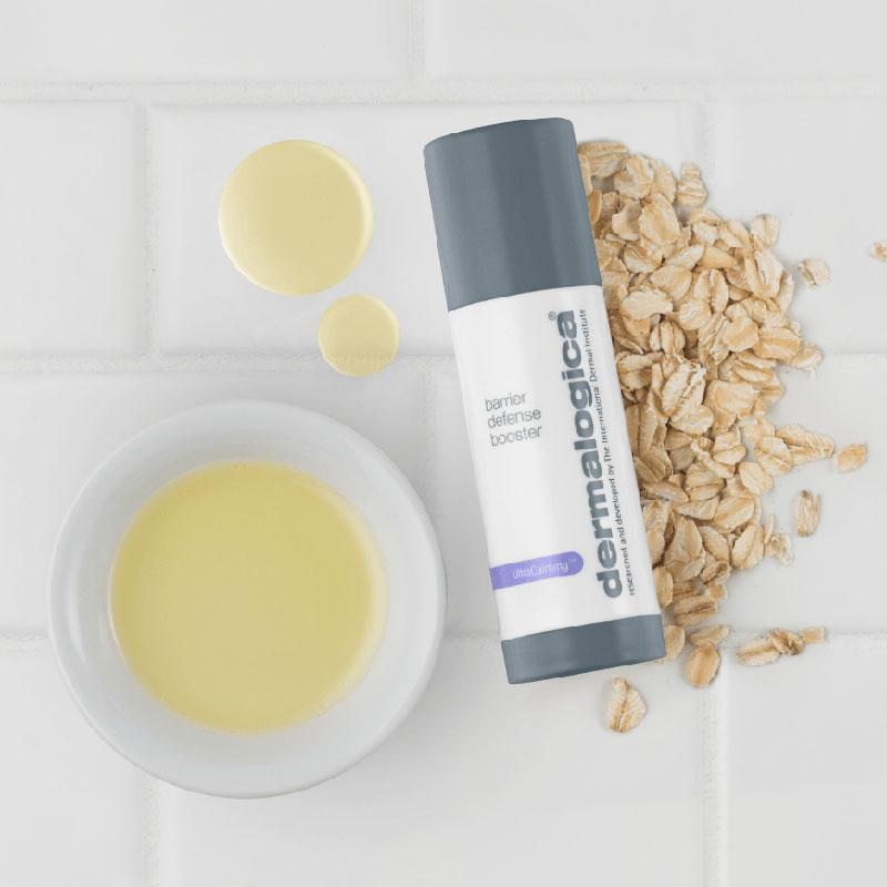 Dermalogica UltraCalming Barrier Defense Booster På Bord Med Havre