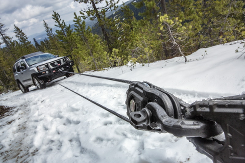 Use snatch block to winch