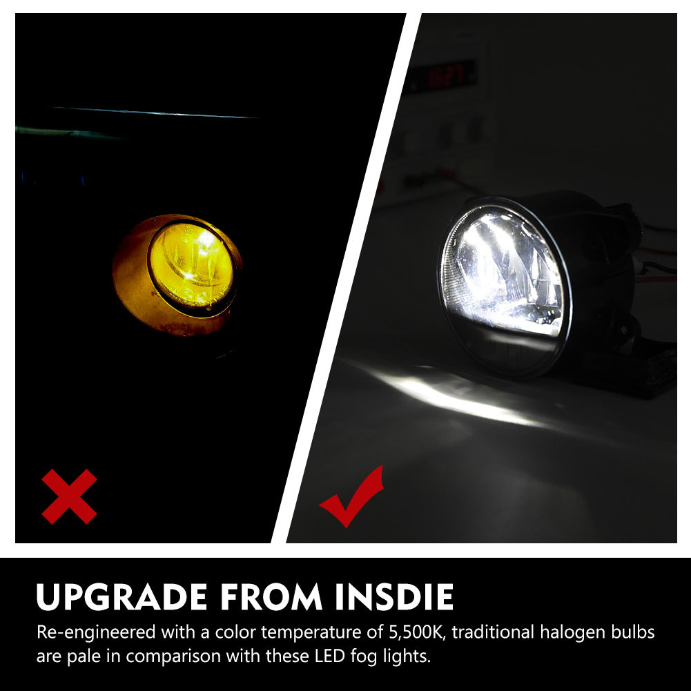 Fog Light with Cree LED Bulbs For Jeep Wrangler JL 2018-2020,100% OEM