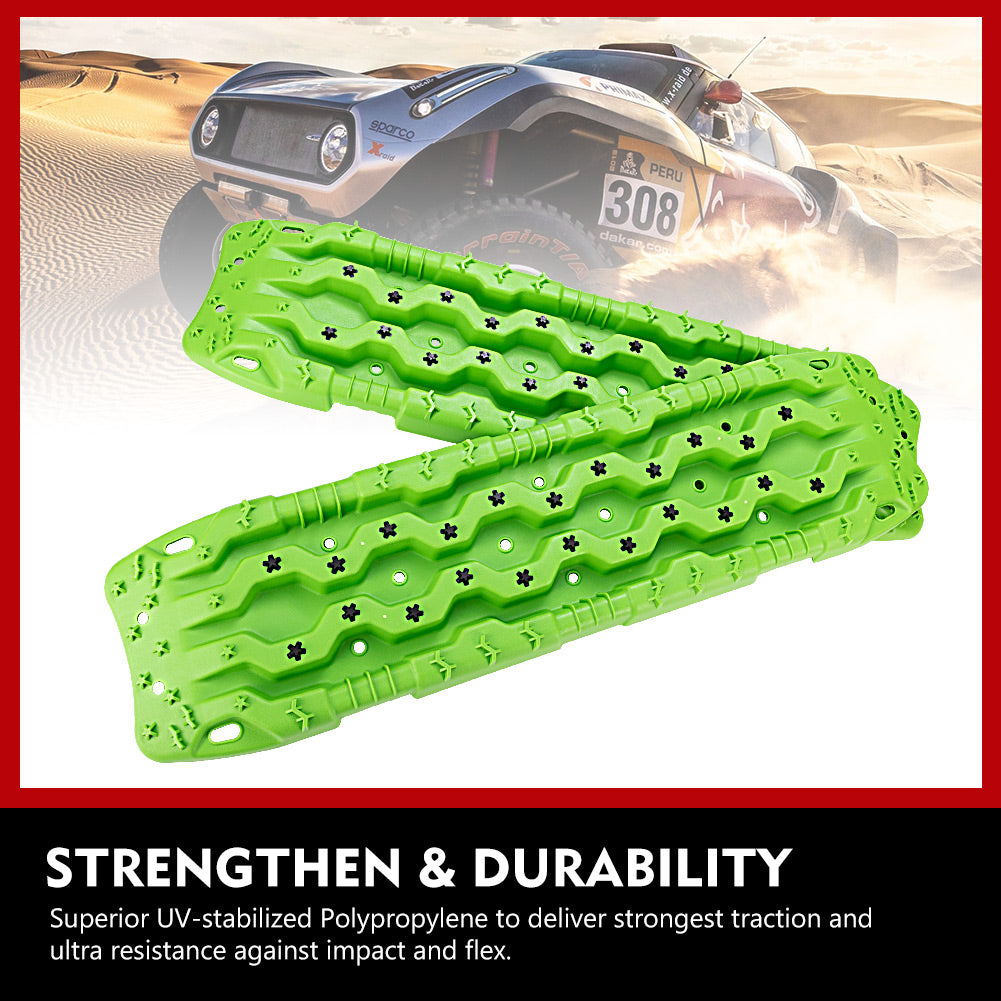 Traction Tracks - 2 Pcs Traction Mat Recovery-Traction Boards,Green