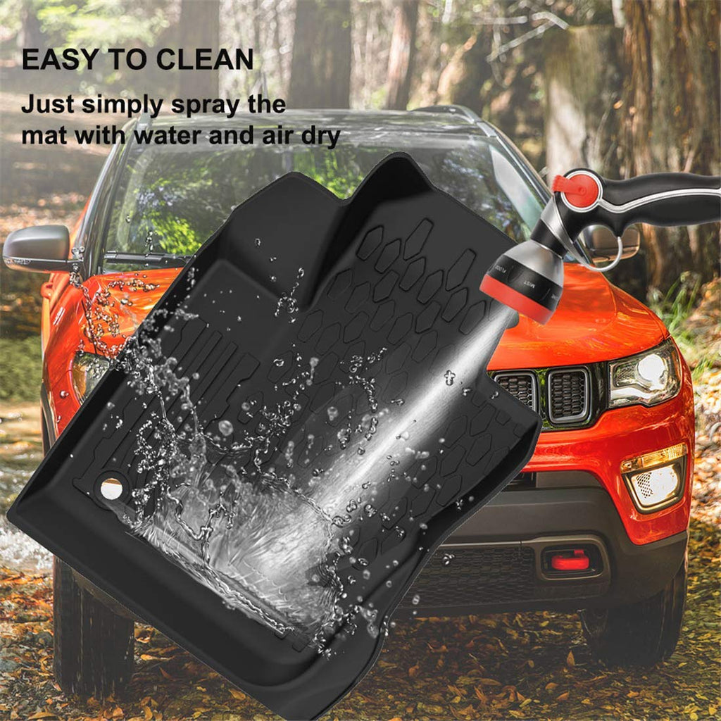 Floor Mats Cargo Liner Set for 2017-2019 Jeep Compass All Weather