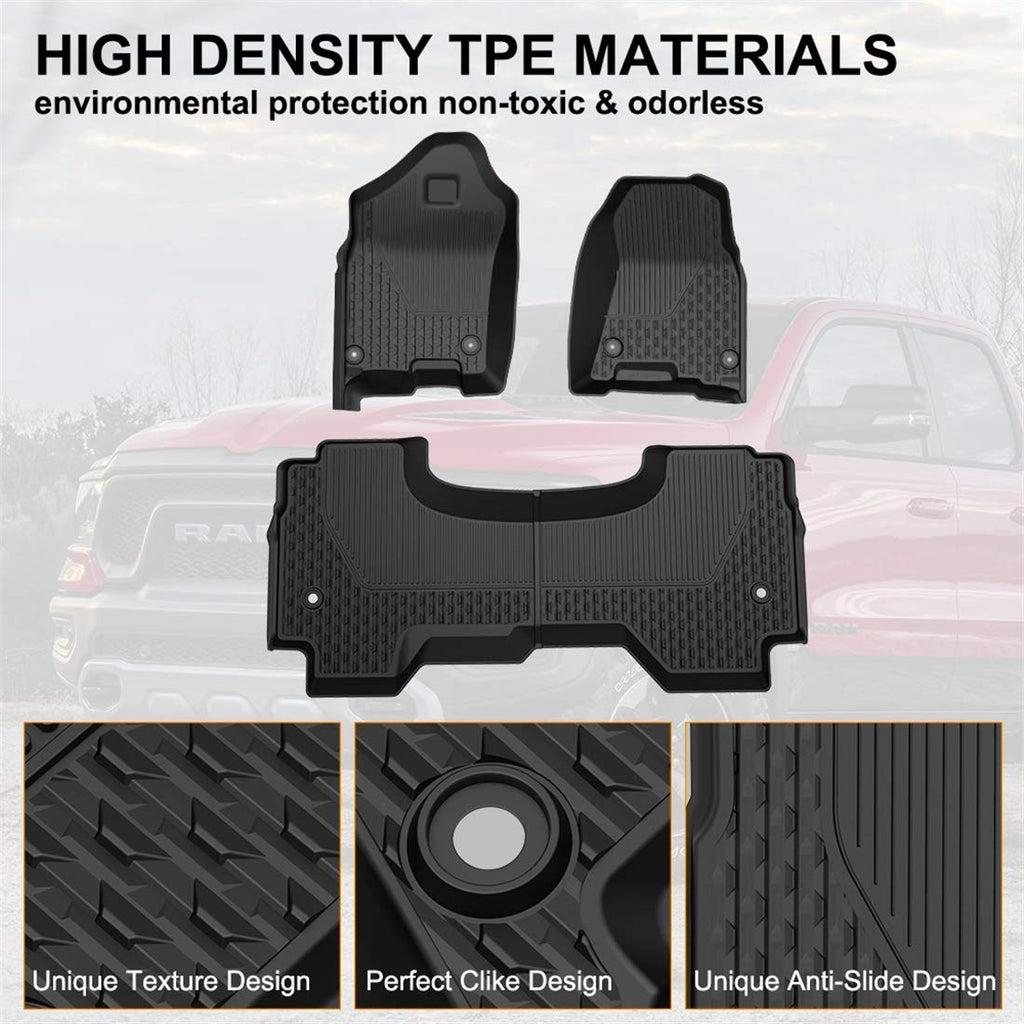 KIWI MASTER Floor Mats Liners Compatible for 2019 2020 Dodge Ram 1500