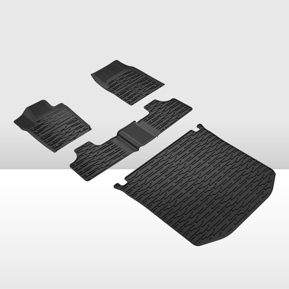 Floor Mats Cargo Liner Set for 2013-15 Jeep Grand Cherokee All Weather