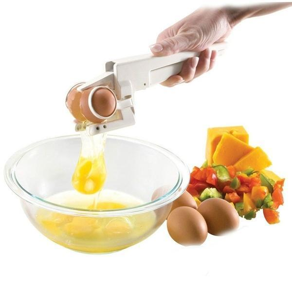 Plastic Handheld Egg Cracker with Separator