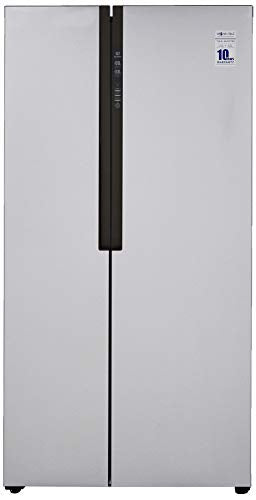 Haier 565 L Inverter Frost-Free Side-By-Side Refrigerator (HRF-619SS, Silver)