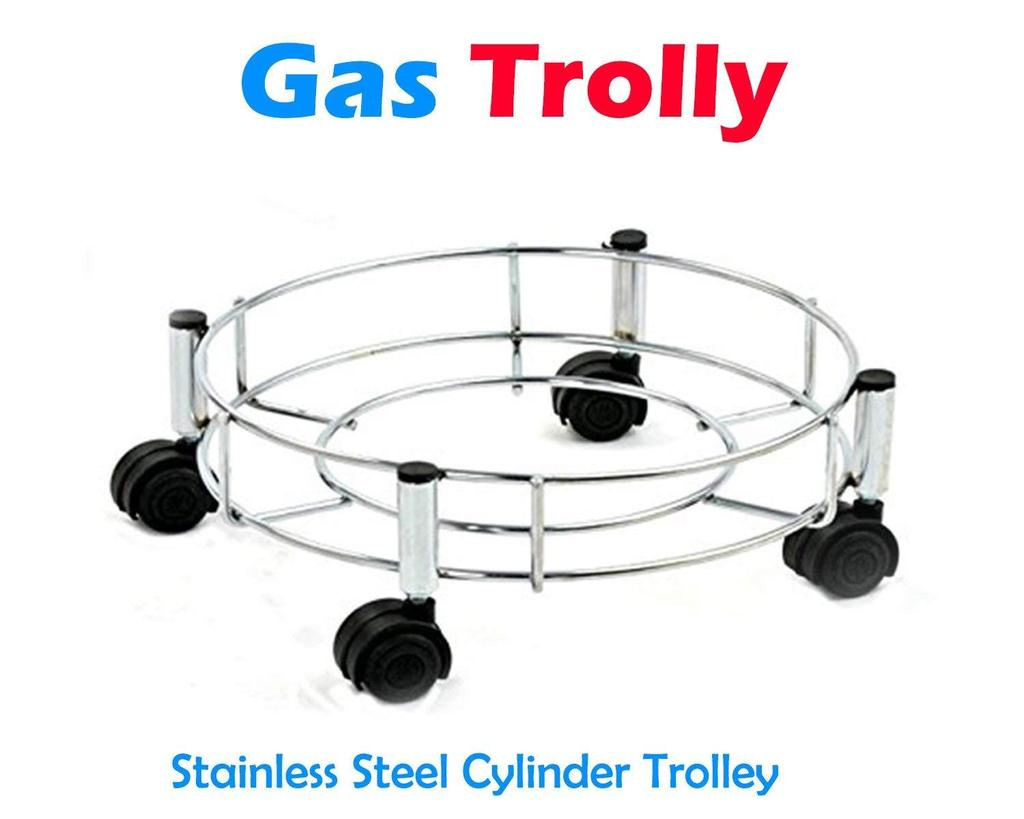 Stainless Steel Gas Cylinder Trolley