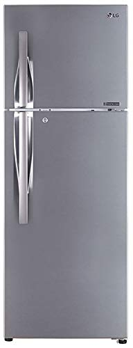 LG 335 L 3 Star Inverter Frost-Free Double Door Refrigerator (GL-T372JPZ3, Shiny Steel, Convertible)