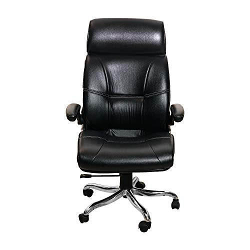 Amaltas® Luxury Office Chair | High Back Executive Chair | Director Chair | Boss Chair | Revolving Chair |Leather Chair (Black)