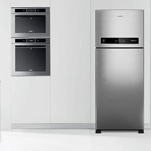 Whirlpool 340 L 3 Star Inverter Frost-Free Double Door Refrigerator (INTELLIFRESH INV CNV 355 3S, German Steel, Convertible)