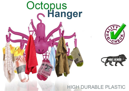 8-Claw Octopus Hanging Dryer 16 Clothes pegs