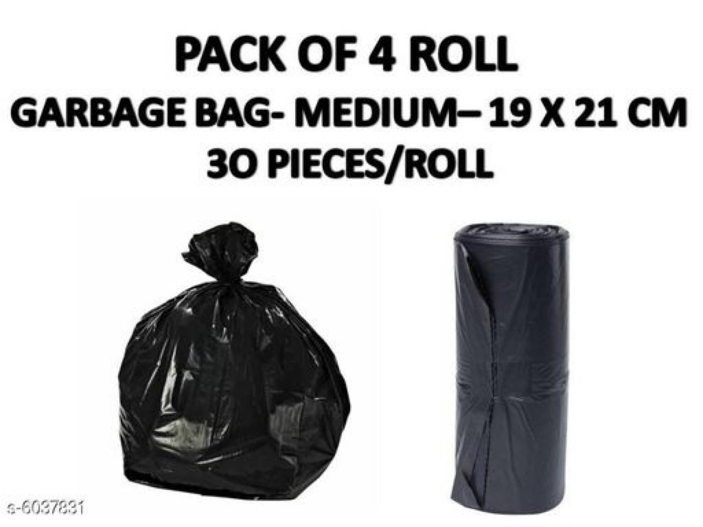 Strong medium size garbage bag pack of 4