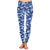 Women Blue Camo Legging Customized Super Soft Peach Skin Skinny Leggings