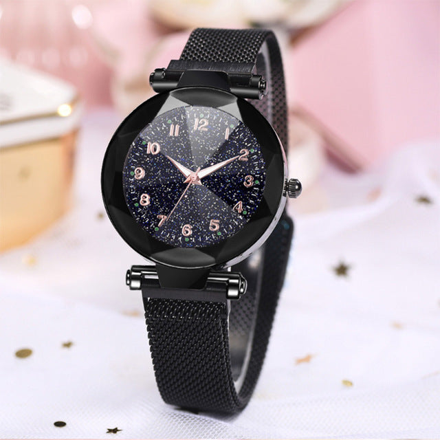 Fluorescence Starry sky women watch