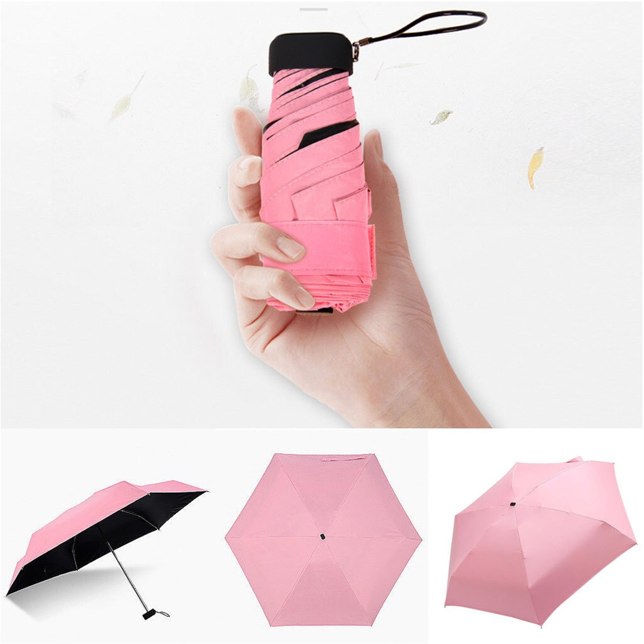 Brand Brit - 3 Layer UV protection Nano Compact Pocket Umbrella with Capsule Case