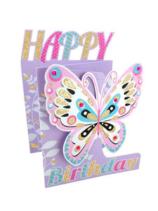 Happy Birthday 3D Butterfly