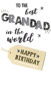 The Best Grandad Birthday Card