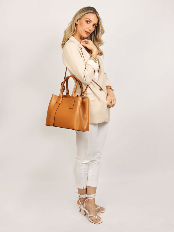 Aosta Tote Bag Tan