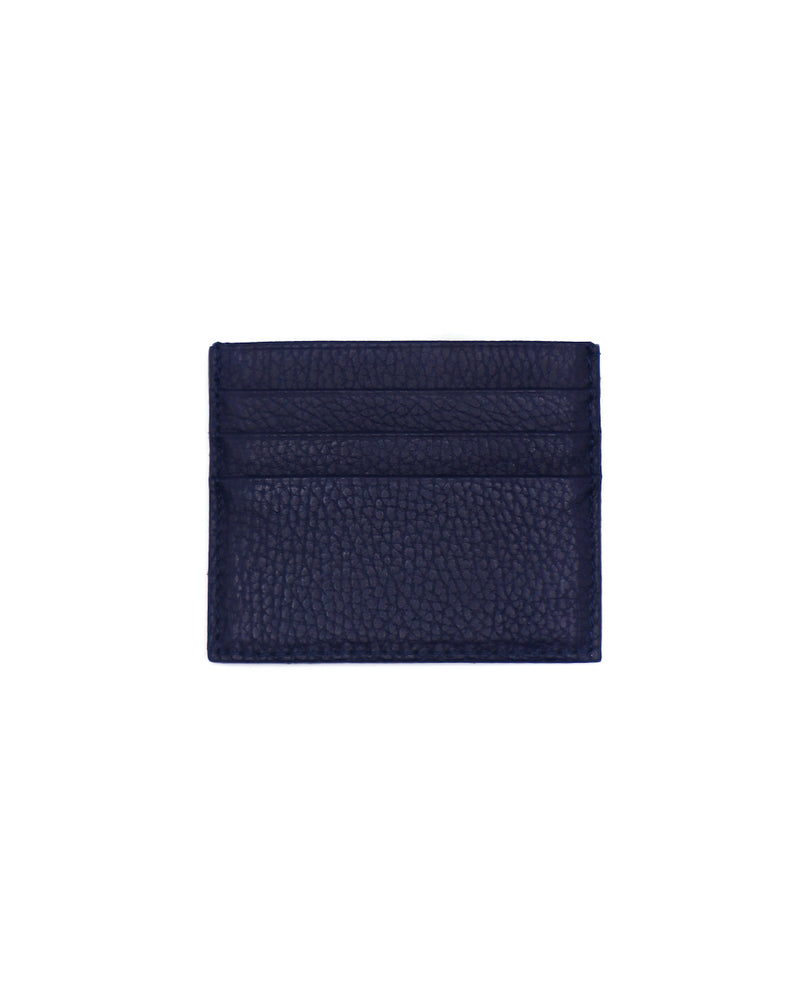 Pebbled Leather VJ Card Case Denim