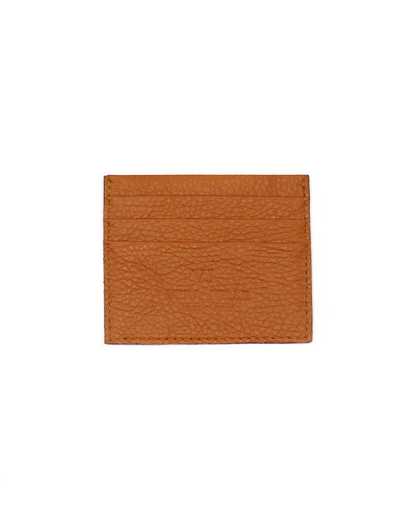 Pebbled Leather VJ Card Case Caramelo