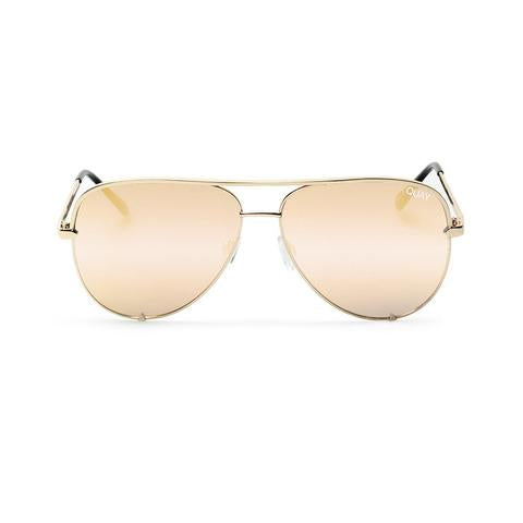 High Key Gold sunglasses by Quay Australia
