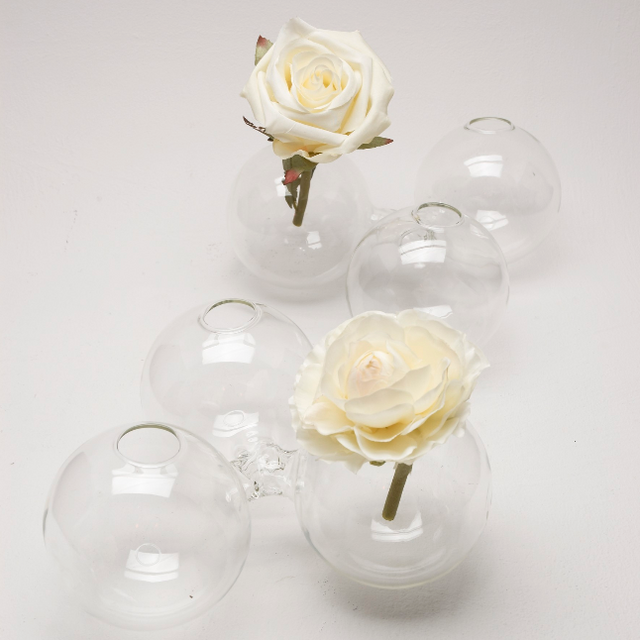 3 Pod Glass Vases