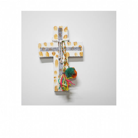 Jai Vasicek | Tan Abacaxi Large Cross