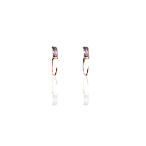 Earrings | Amethyst Hugger Hoops
