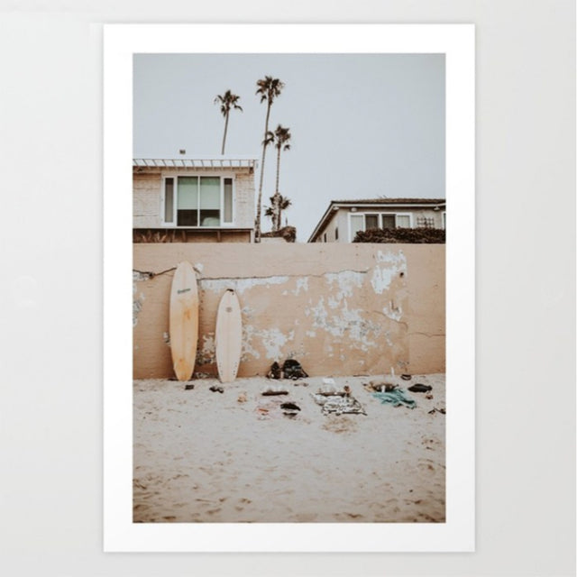 California beach art print NZ
