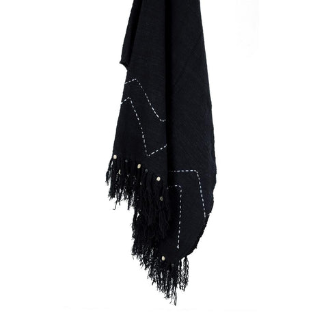 Cotton Throw | Black